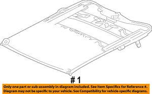details about chrysler oem 03 09 pt cruiser sunroof frame 5101843aa  pt cruiser sunroof diagram #10