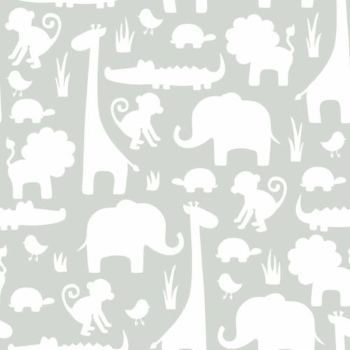 Nuwallpaper il est une jungle ici Peel /& Stick Papier Peint Gris NU1393 Fine Decor