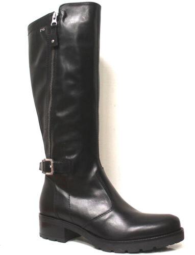 Nero ritssluiting Boots Fibbi Lederen Giardini Cararmato Soft 80757 dubbele met Op5rOzwq