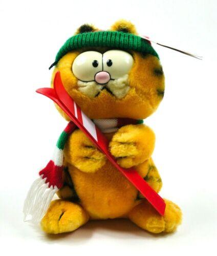 1981 DAKIN Plush SKIER GARFIELD Cat Skiing Winter Skiis Stuffed Toy Vintage Ski