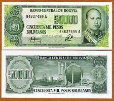 Bolivia, 50,000 (50000) Pesos Bolivanos, 1984, Pick 170 UNC