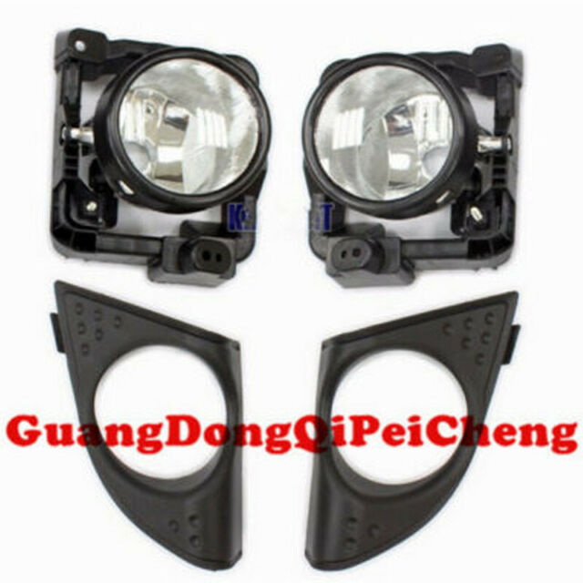 LH+RH Foglight Fog Light Lamp Cover Metal Without Bulbs