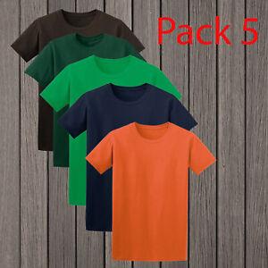 Gildan-Men-039-s-Soft-Style-Short-Sleeve-Pack-Of-5-adult-Bright-Color-T-Shirt