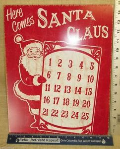 Countdown To Christmas Sign.Details About Retro Here Comes Santa Claus Countdown Christmas Sign Metal W Magnet