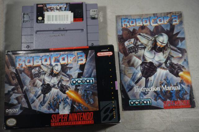 Robocop 3 (Super Nintendo SNES) Complete in Box GOOD Shape
