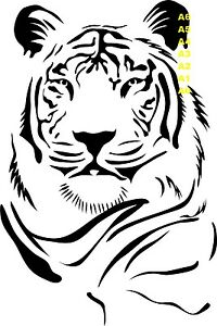 Majestic-Tiger-Face-350-Stencil-micron-Mylar-not-thin-stuff-BigC001