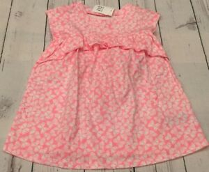 17e53908f Details about Baby Gap Girls 12-18 Months Bright Pink Butterfly Dress With  Bloomers. Nwt