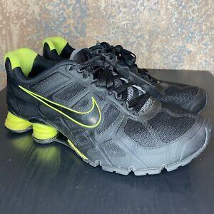 Men's Nike Shox Turbo Running Shoe Black / Volt Green 454166-007 Sz 10.5