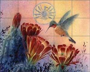 Southwest-Tile-Backsplash-Ceramic-Mural-Morrow-Cactus-Hummingbird-Art-RW-KM015