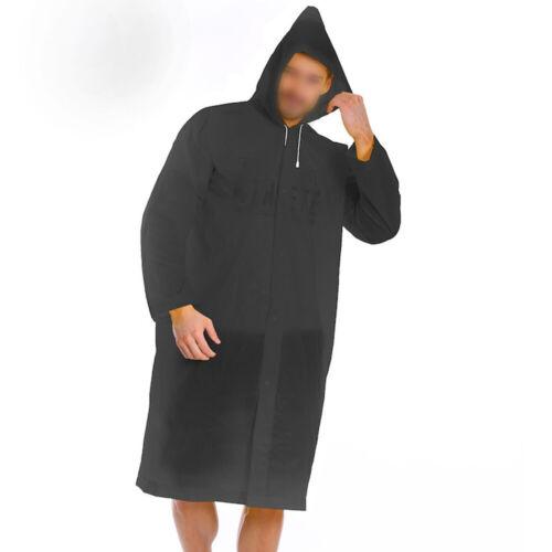 Uomo Donna Eva Impermeabile con Cappuccio Cappotto Trench Poncho per Outdoor e