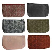 Cosmetic Bag Rose Brocade Makeup Bag Women's Pretty Purse W/ Mirror Six Styles