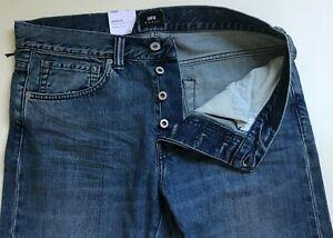 Mens-Jeans-Conicos-Edwin-ED80-Slim-12oz-Cintura-29-longitud-34-Kingston-Azul-Denim