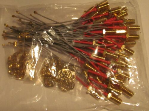 """50 NEW EDGAR IPX U.FL to SMA RF PIGTAIL JUMPER CABLES PCI WIFI CARD/ ANTENNA 4"""""""