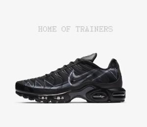 dc727c05b7b50 Nike Air Max Plus Black Anthracite Dark Grey Men s Trainers All ...