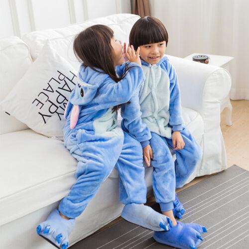Kids Children Pyjamas Animal Xmas Onesi1 Cosplay Costume Fancy Dress Kigurumi UK