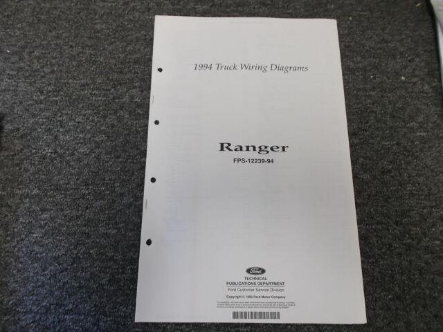 1994 Ford Ranger Truck SB LB Electrical Wiring Diagram ...
