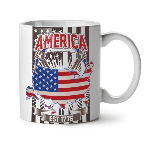 American Nation Fashion NEW White Tea Coffee Mug 11 ozWellcoda