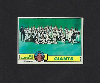 1979 TOPPS BASEBALL SAN FRANCISCO GIANTS TEAM #356 UNMARKED NRMT/NMMT *54461 sports memorabilia Sports Trading Cards & Accessories