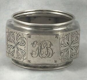 David-Andersen-Christiania-830-Sterling-Silver-Octagonal-Decorated-Napkin-Ring