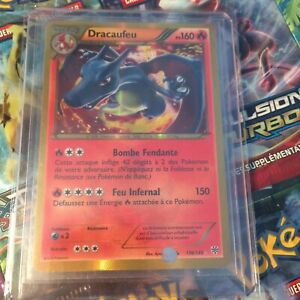 Détails Sur Carte Pokémon Ultra Rare Dracaufeu Shiny 136135 Tempête Plasma Vfnear Mint