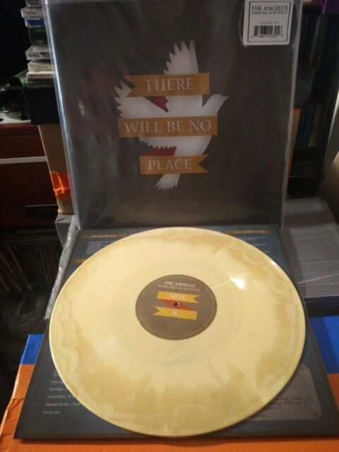 The Angelus ‎– There Will Be No Peace LP Beer & Mustard Vinyl Die Cut Nuovo
