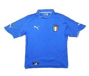 ITALIA 2003-04 Authentic Home Shirt (eccellente) S Soccer Jersey