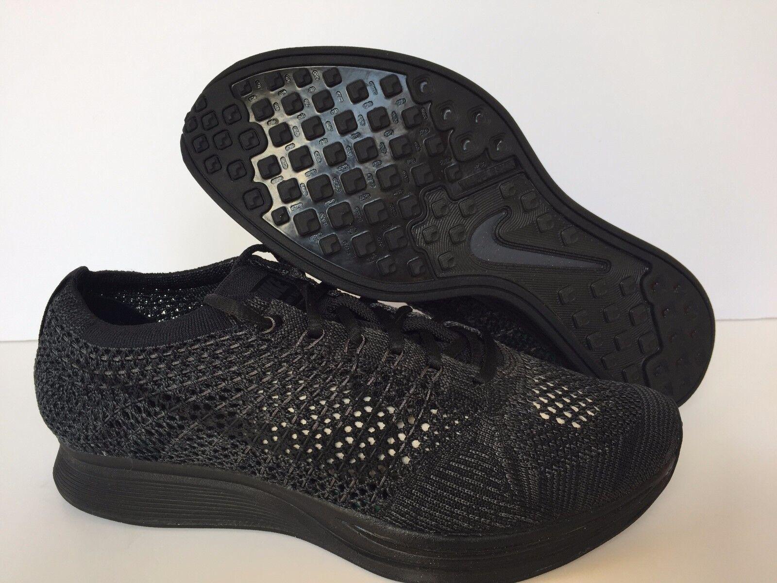 Nike Flyknit Racer Triple Black Anthracite [526628-009] SIZE MEN 5.5 WOMEN 7