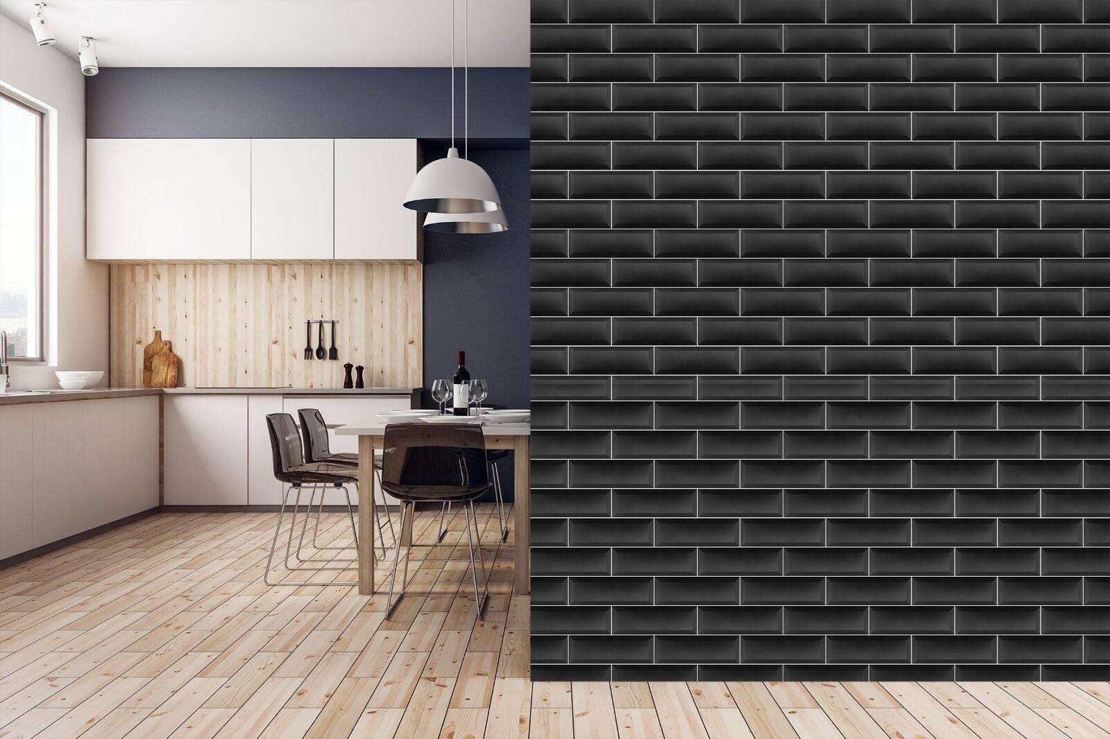 3D Schwarze Weiß Linie 2 Textur Fliesen Marmor Tapete Abziehbild Tapete Wandbild