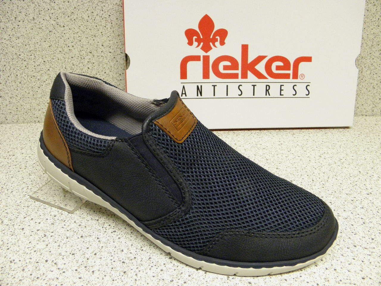 Rieker ® riduce, alla moda, blu, + GRATIS Premium-Calze + 15850-15 (r357)