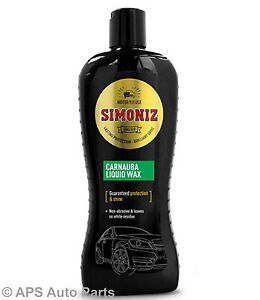 Simoniz-Carnauba-Fluessig-Wachs-Auto-Politur-Auto-Pflege-Schutz-amp-Shine-500ml-NEU