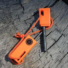 UST Sparkforce Compact Flint Fire Starter Flint & Steel Striker w Lanyard Orange