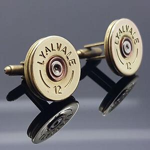 Silver Shotgun Shell Cuff Links