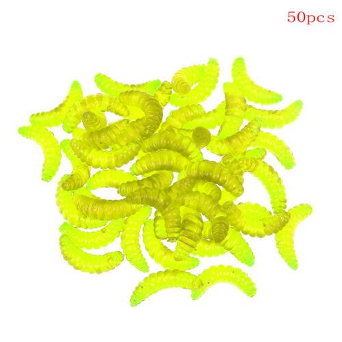 Maden-weicher Köder 50pcs 2cm 0.3g Grub locken Geruch Worm Glow Shrimp Angel VE