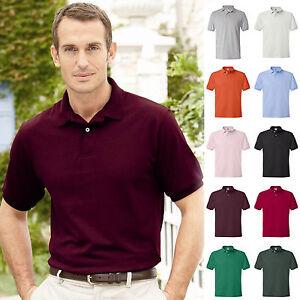 Hanes-Golf-Tee-Blended-Jersey-Sport-Shirt-Mens-Polo-golf-shirt-from-S-6XL-054X