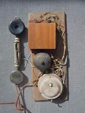 Téléphone bois combiné Le Parisien Unis France vers 1910