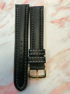 Genuine-Bulova-leather-black-watch-strap