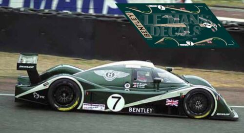 Calcas Bentley Speed 8 Le Mans 2003 1:32 1:24 1:43 1:18 64 87 slot  decals