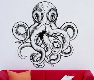Image Is Loading Octopus Wall Decal Sprut Sea Animal Vinyl Sticker