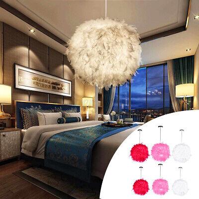 Federn Deckenlampe Hängelampe Pendelleuchte Lichter Schirm LED Lampe Beleuchtung