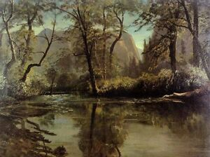 Art-nice-Oil-painting-landscape-river-Yosemite-Valley-California-canvas-24-034-x36-034