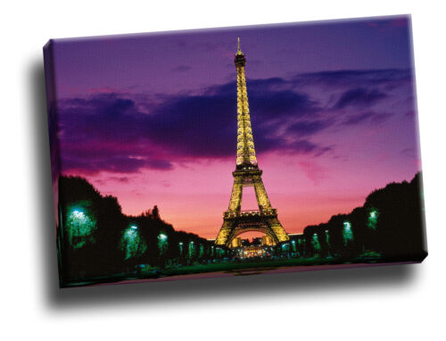 Eiffel Tower at Night, Paris, France Giclee Canvas Wall Art Picture