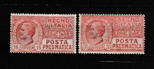 S35632 Italy 1927/28 MNH New Mail Pneumatic 2v Saxon 12/13