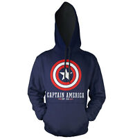 Officially Licensed Captain America Logo Hoodie S-xxl Sizes