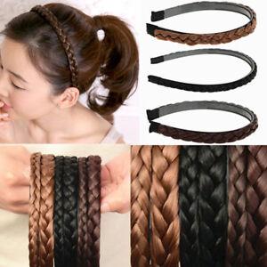 Haarband-Stirnband-Geflochten-Kunsthaar-Haarreifen-Flechtzopf-Zopf-Haarschmuck