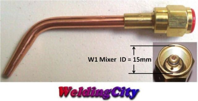 WeldingCity Welding Brazing Nozzle Tip 23-A-90 #3 with E-43 Mixer for Harris Torches