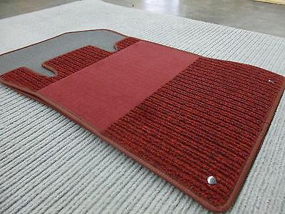 Original Lengenfelder Fußmatten für Mercedes Benz SL R230 AMG WEINROT NEU