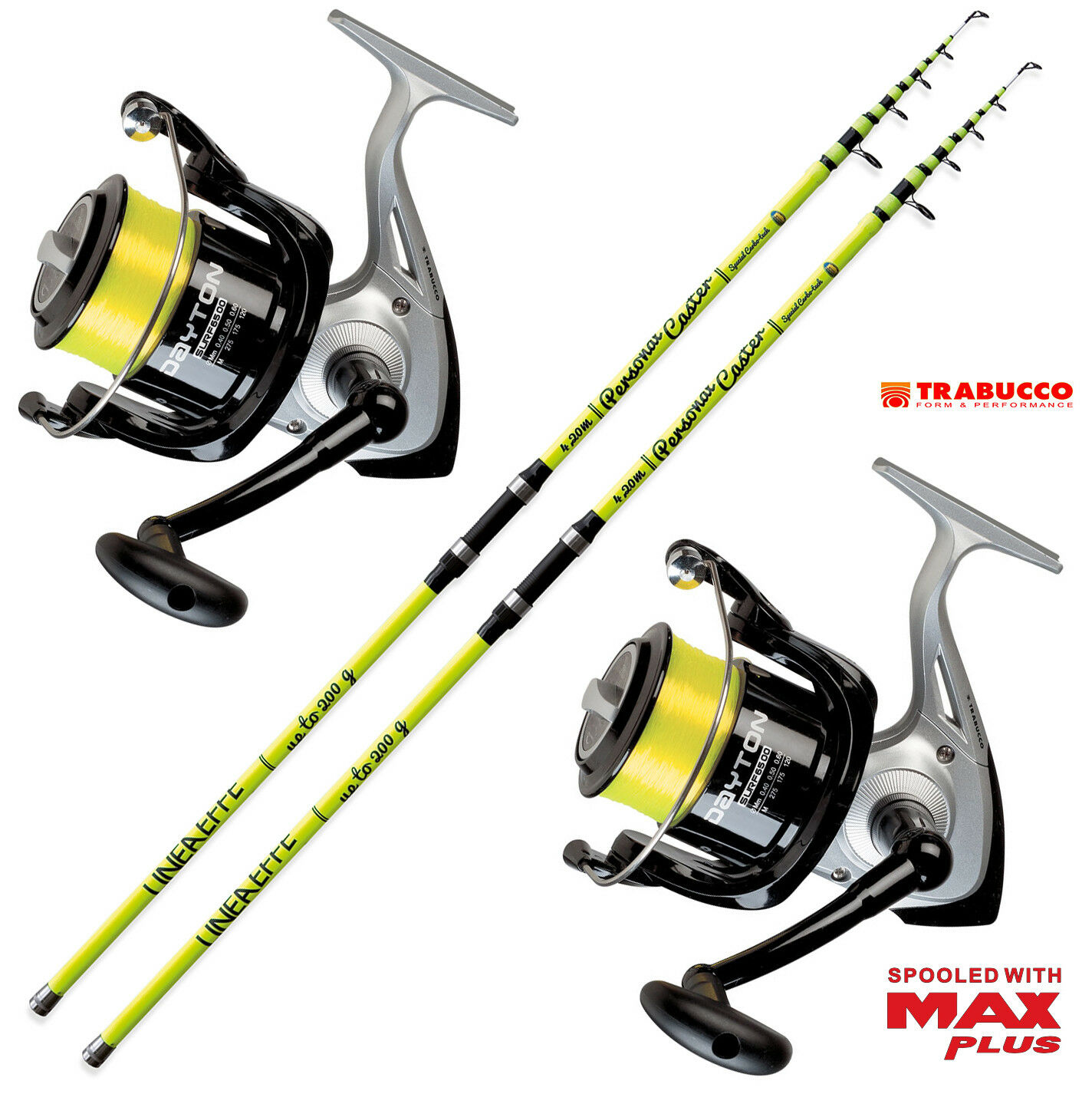 KP3514 2 Canna pesca Surf Personal caster 420 2 Mulinello Trabucco 6500  RNG