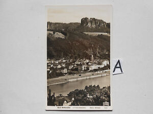 Pratique Carte Postale Vue Carte Saxe. Bad Schandau-afficher Le Titre D'origine Couleurs Harmonieuses