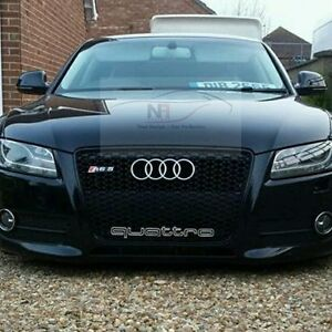 2007 2012 audi a5 s5 to rs5 front grill black edition uk. Black Bedroom Furniture Sets. Home Design Ideas