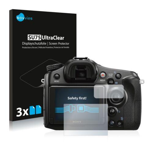 6x Displayschutzfolie für Sony Alpha 68 Schutzfolie Klar Folie Displayfolie